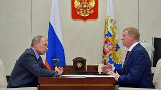 Анатолий Чубайс на встрече с Владимиром Путиным 7 ноября 2016