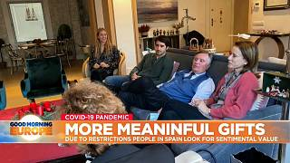 Spanish family home gathering ahead of Christmas