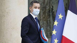 Le ministre français de l'Intérieur, Gérald Darmanin, quittant le palais de l'Elysée, le 2 décembre 2020