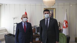 CHP Lideri Kılıçdaroğlu'ndan Demokrat Parti'ye ziyaret