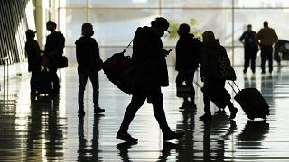 مسافرون في مطار مدينة سالت لايك ـ الولايات المتحدة ـ 2020/10/27