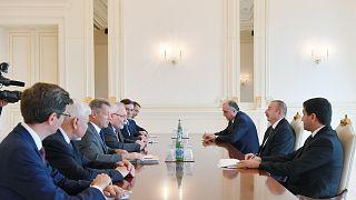 Mins Grubu eş-başkanları ve İlham Aliyev