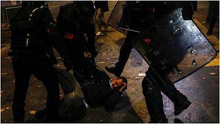 من المظاهرات في باريس احتجاجا على القانون