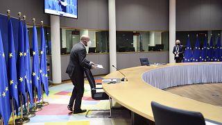 رئيس المجلس الأوروبي شارل ميشال /مبنى المجلس الأوروبي في بروكسل ، الأربعاء 2 ديسمبر 2020