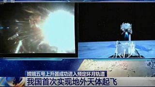 Çin'in uzay aracı Ay'dan ayrıldı