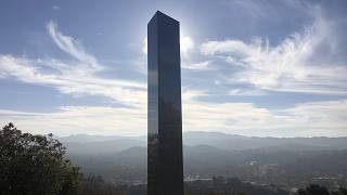 The monolith was erected on the Pine Mountain trail in an Atascadero park, California