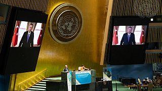 Cumhurbaşkanı Erdoğan (BM) Genel Kurulu Covid-19 Zirvesi'ne video mesajla seslendi