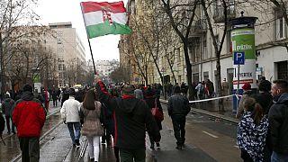 Archivo. Partidarios de Viktor Orbán y el partido Fidesz durante la campaña a las elecciones europeas
