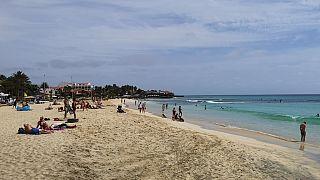 Praia de santa Maria, na ilha do Sal, em Cabo Verde