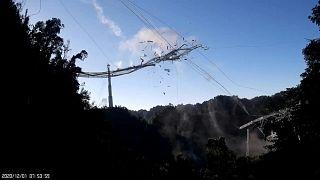 انهيار تلسكوب في بورتو ريكو