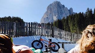Fatbiking in the dolomites