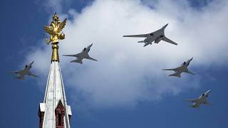 file photo, Russia's Air Force strategic bombers, Tu-160,