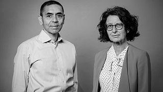 Covid-19 aşısını geliştiren Alman BioNTech firmasının Türk asıllı kurucu ortakları Dr. Uğur Şahin ve Dr. Özlem Türeci.