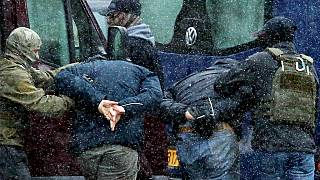 Arrestation de manifestants à Minsk, le 29/11/2020