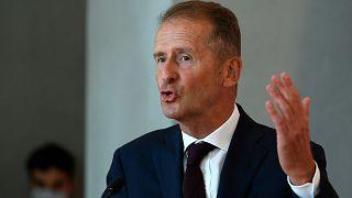 Volkswagen'in tepe yöneticisi (CEO) Herbert Diess