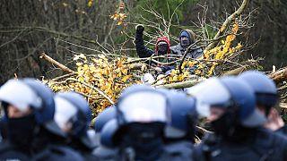 Proteste im Dannenröder Forst in Hessen