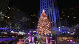 شاهد: أشجار الميلاد من نيويورك إلى بيروت تزين الساحات رغم كورونا