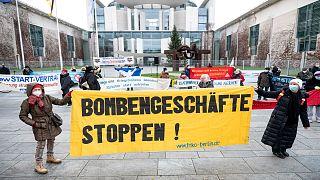 متظاهرون من أجل السلام أمام البرلمان الألماني