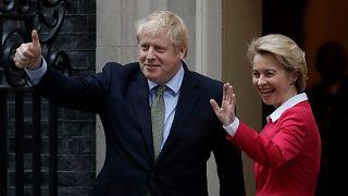 AB Komisyonu Başkanı Ursula von der Leyen, İngiltere Başbakanı Boris Johnson