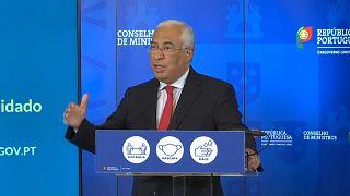 António Costa durante o anúncio da medidas restritivas de combate à pandemia