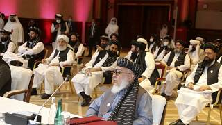 الجلسة الافتتاحية لمحادثات السلام بين الحكومة الأفغانية وطالبان في الدوحة، قطر
