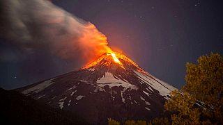 Şili'deki Villarrica yanardağı