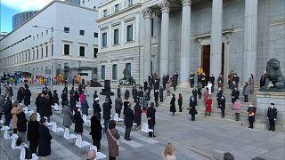 Ceremonia delante del Congreso de los Diputados en el día de la Constitución, Madrid 6/12/2020