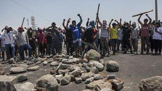 Huelga de agricultores en Perú