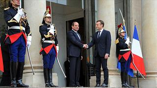 Mısır Cumhurbaşkanı Abdulfettah Sisi // Fransa Cumhurbaşkanı Emmanuel Macron (arşiv)
