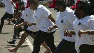 Танцевальный флешмоб в Кейптауне под песню Jerusalema