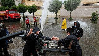 سیلاب در منطقه کمپلو شهر اهواز