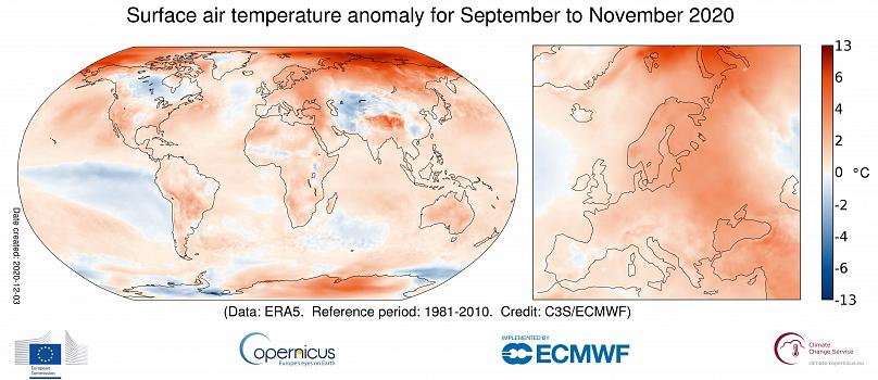 European Union/ Copernicus Climate Change Service/ ECMWF