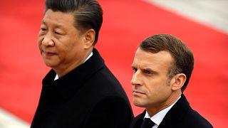 Çin Devlet Başkanı Şi Cinping, Fransa Cumhurbaşkanı Emmanuel Macron (arşiv)