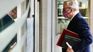 Michael Gove, número dos del Gobierno británico, llega a la sede del Unión Europea en Bruselas
