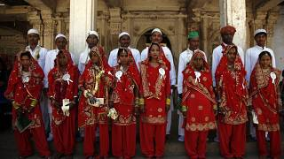 مراسم ازدواج همزمان چند زوج مسلمانان در احمدآباد هند، ۲۰۱۵