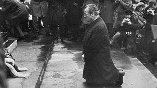 Willy Brandt's gesture of apology for Nazi crimes.