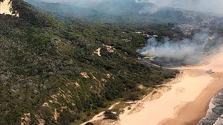 Incêndio na ilha de Fraser