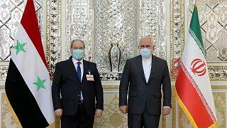 ظریف و مقداد، وزرای خارجه ایران و سوریه
