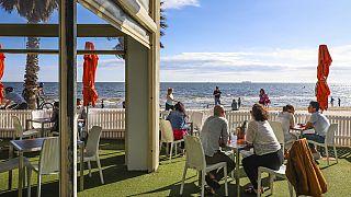 Melbourne'de St Kilda Plajı