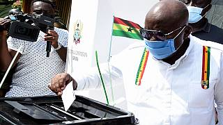 Ghana's main Presidential candidates cast ballots