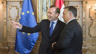 Manfred Weber és Orbán Viktor Budapesten 2015-ben. Közeledik a válás ideje.