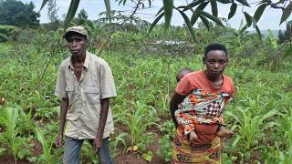 Burundian couple from the province of Kirundo at the border with Rwanda.