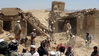 تخریب منازل غیرنظامیان افغان در حملات هوایی (عکس از آرشیو)