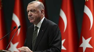Turkey's President Recep Tayyip Erdogan speaks following a cabinet meeting in Ankara, Turkey.