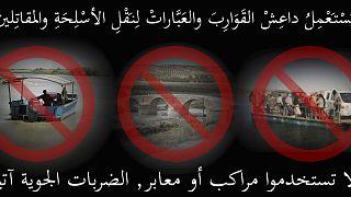 ABD liderliğindeki koalisyon güçlerinden Rakka halkına bot ve taşıyıcı araç kullanmamaları yönünde uyarı (Arşiv)