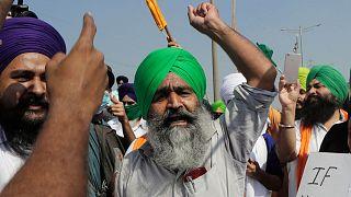 تجمع اعتراضی کشاورزان هندی