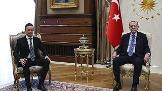 Szijjártó Pétert fogadta a török államfő is