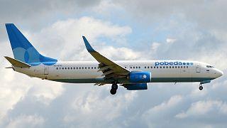 Archives : un Boeing 737-800 de Pobeda, le 30 août 2015 à l'Aéroport international de Vnoukovo près de Moscou