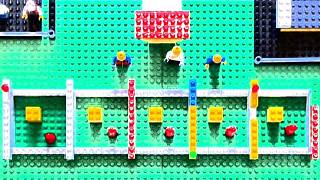 Berliner Impfzentrum im Lego-Format
