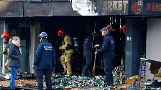 Three Polish supermarkets with the same name were damaged by explosions